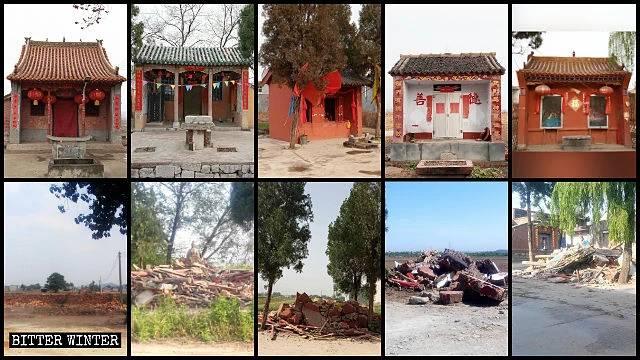 Molti templi dei villaggi
