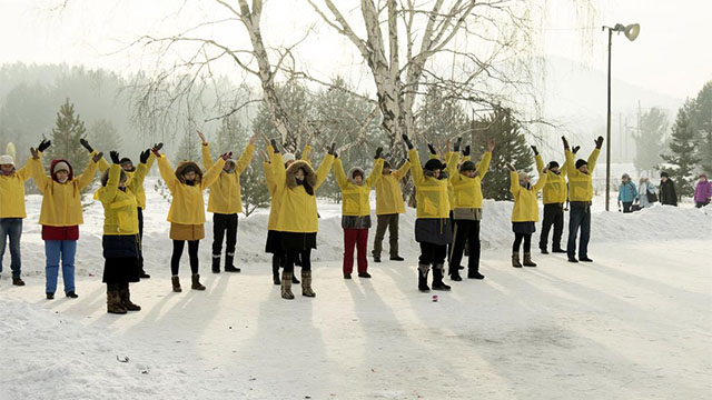 Praticanti del Falun Gong a Irkutsk in Russia