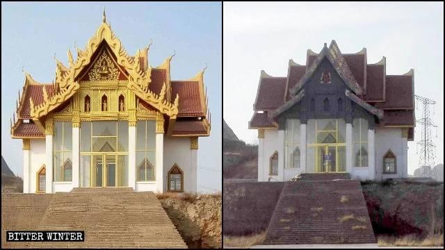 aspetto della sala Lasa del tempio