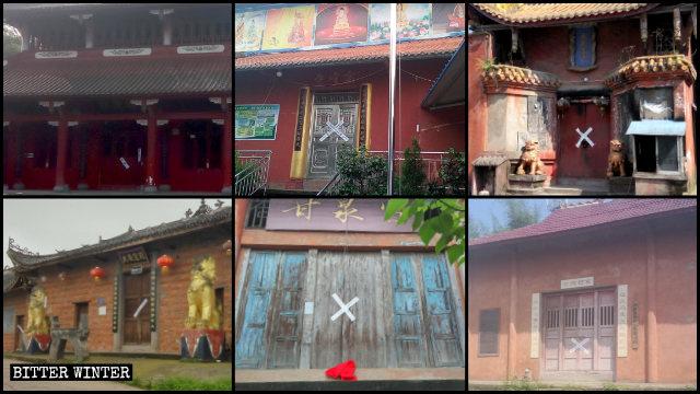 A Luzhou sono stati chiusi numerosi templi buddhisti