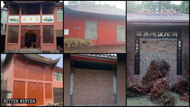 porte e le finestre di molti templi sono state murate2
