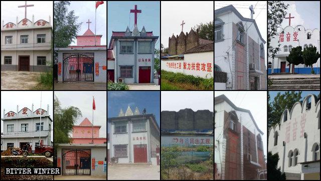 Anhui sono state rimosse le croci