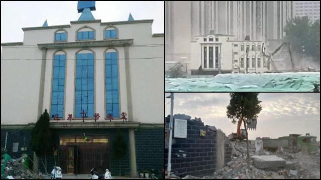 Chiesa delle Tre Autonomie distrutta