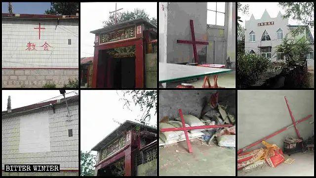 Croci rimosse da molte chiese