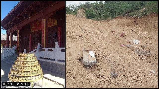 Il tempio Pujing nel distretto di Baota