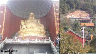 Statue buddhiste rimosse perché «troppo alte»
