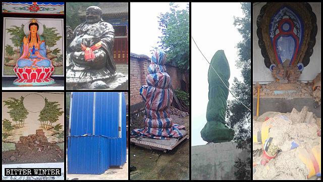 Le statue buddhiste della San guan