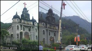 Divelte le croci di due luoghi di culto protestanti dello stesso villaggio