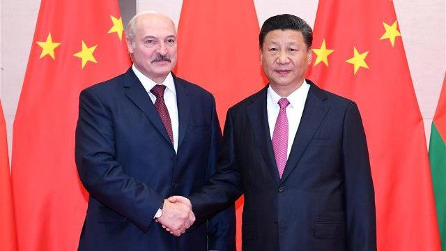 Xi Jinping e il presidente bielorusso Lukashenko