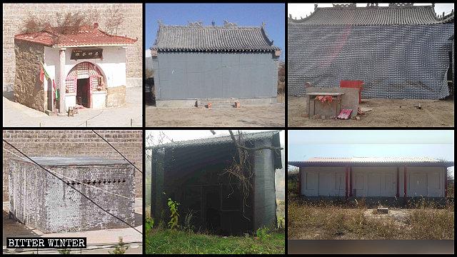 molti templi dedicati alla religione popolare sono stati chiusi
