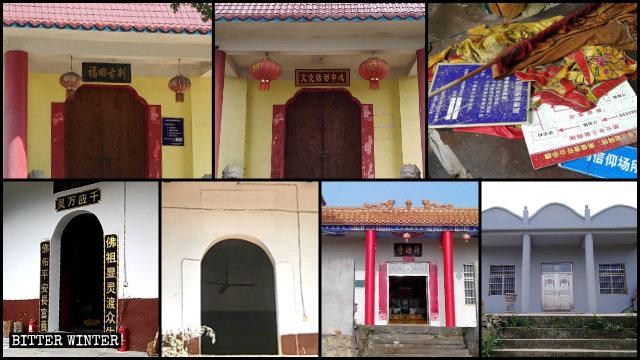 Alcuni templi di Ezhou sono diventati condomini residenziali