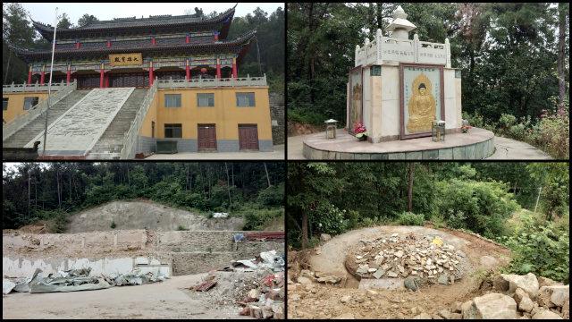 Il tempio Taishan della città di Shiyan è stato raso al suolo