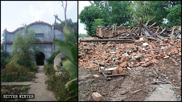 Il tempio Taishan è stato demolito in maggio
