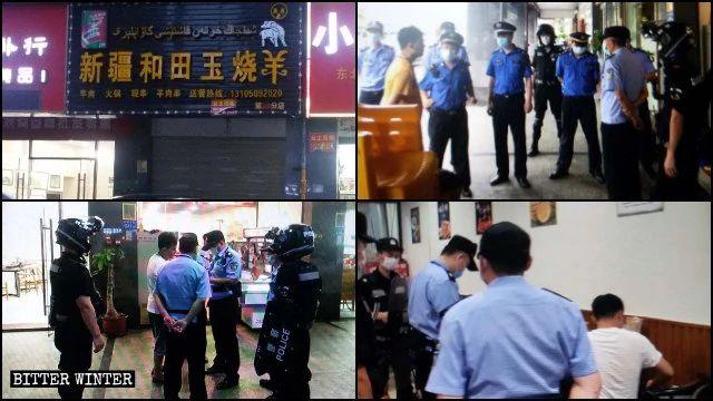 """La rosticceria """"Agnello arrosto Jade di Hotan dello Xinjiang """", a Xiamen, ha dovuto chiudere in giugno, dopo numerose ispezioni della polizia"""