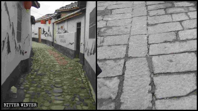Le strade del villaggio di Renju