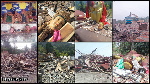 Molti templi sono stati distrutti