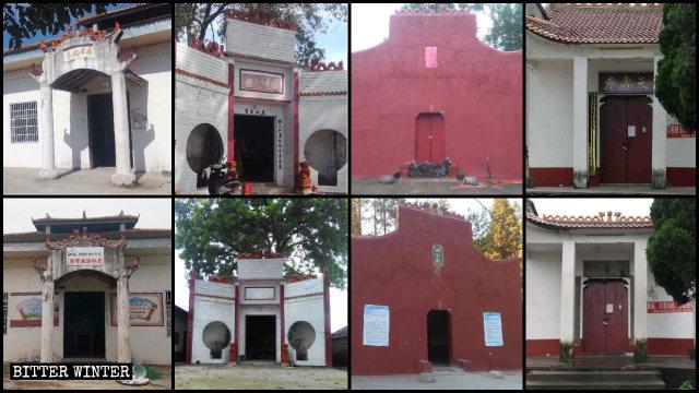 Numerosi templi della contea di Jianli
