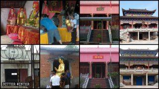 Nuove distruzioni di templi e di statue religiose nell'Hubei