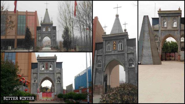 ingresso della chiesa del villaggio
